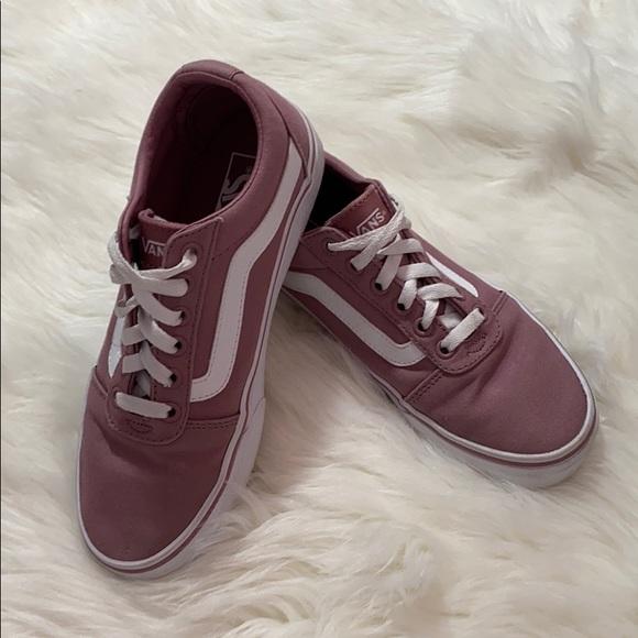 Vans Shoes   Dark Pink Vans Worn Once